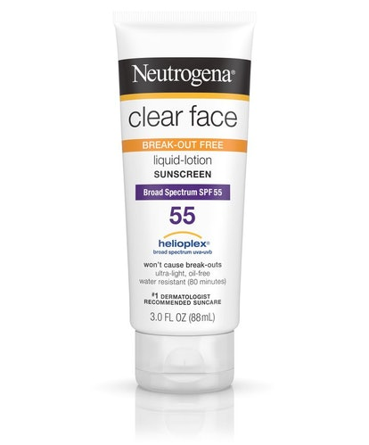 Clear Face Break-Out Free Liquid Lotion Sunscreen Broad Spectrum SPF 55