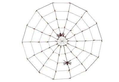 "60"" Halloween Incandescent Spider Web with Purple Spiders"