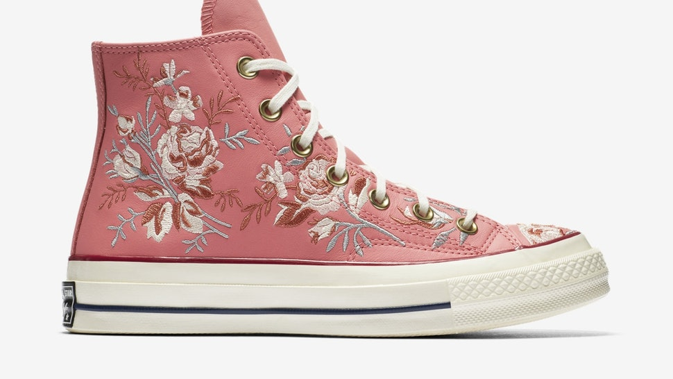 Where To Buy Converse Parkway Floral High Tops Because These Sneakers Are  Fit For A Princess f0f4ae71cbc7