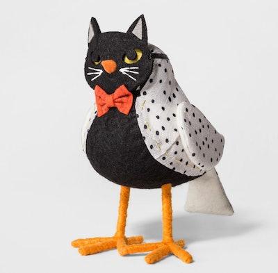 Halloween Fabric Cat Bird