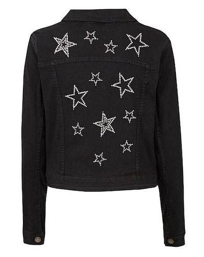 Star Embellished Denim Jacket