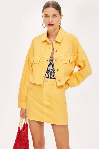 Yellow Hacked Denim Co-Ord