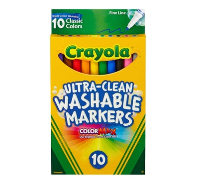Crayola® Ultra-Clean Markers Fine Line Washable 10ct