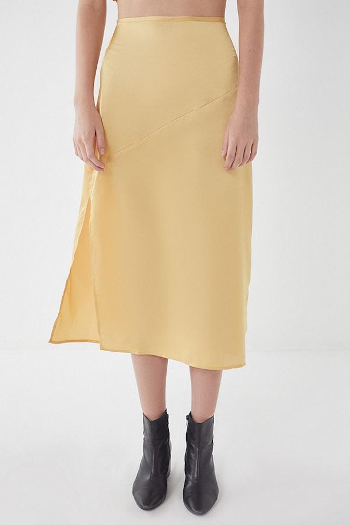 UO Molly Side-Slit Slip Skirt