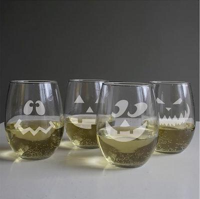 Halloween Stemless Wine Glasses