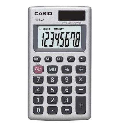Casio HS8VA Solar Powered Pocket Calculator