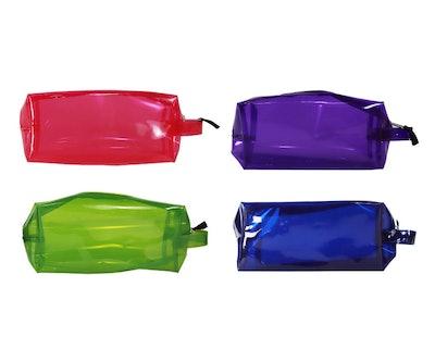 Transparent Pencil Case Assorted Multicolor