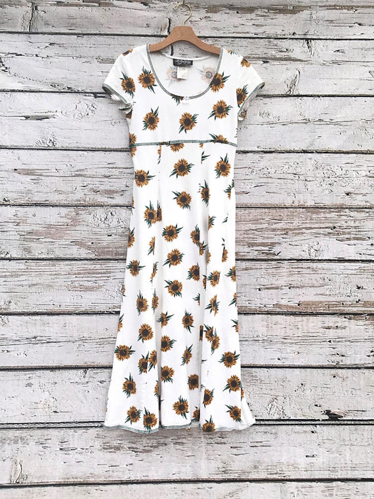 Vintage 90s Sunflower Dress