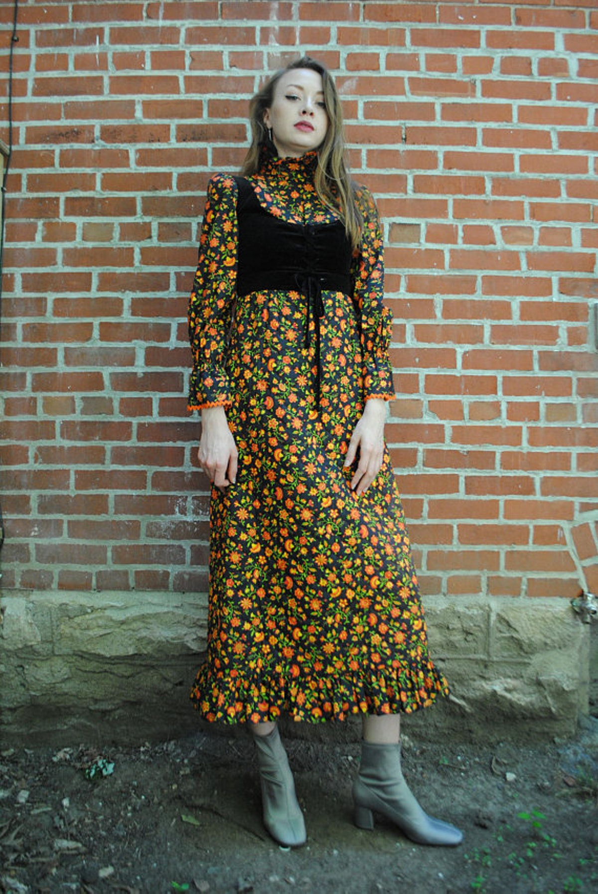 Plaid Panda Store Vintage 70s Dress