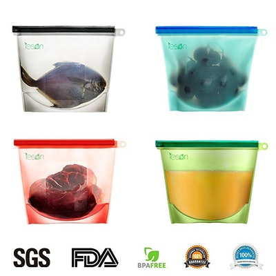 Reusable Silicone Food Storage Preservation Bags Container