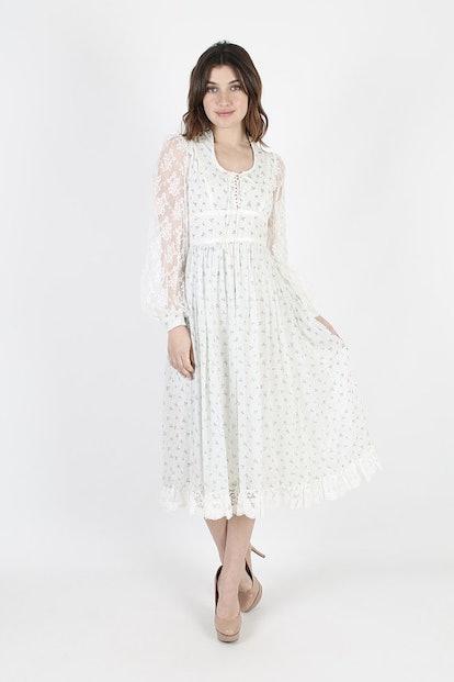 Gunne Sax 80s Dress