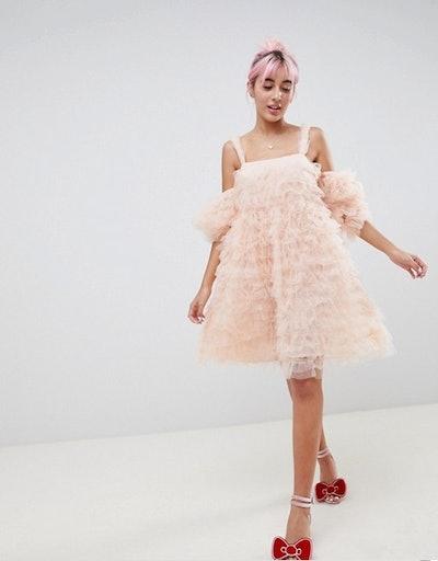 Hello Kitty x ASOS DESIGN Cold Shoulder Dress