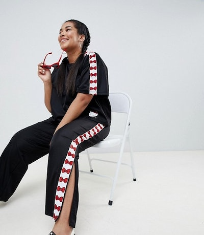 Hello Kitty x ASOS DESIGN Curve Bow Joggers With Tape Detail