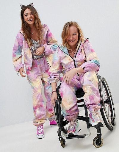 ASOS DESIGN Tie Dye All In One Jumpsuit