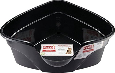 Nature's Miracle High-Sided Corner Litter Box