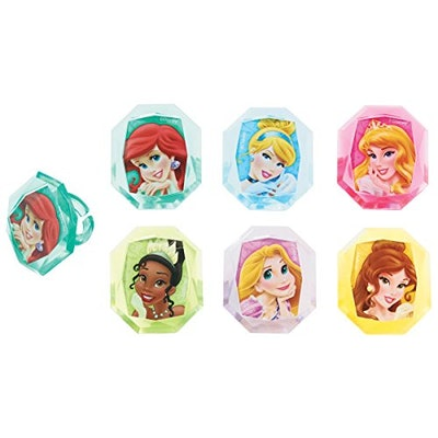 Disney Princess Gemstone Cupcake Rings Party Favors