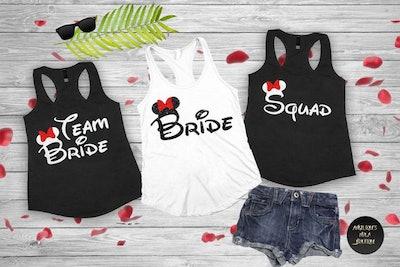 Disneyland Bachelorette Party Shirts