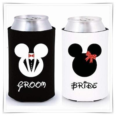 Bride and Groom Disney Coolie Set