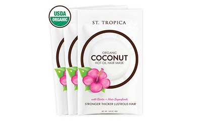 St. Tropica Organic Coconut Hot Oil Hair Mask (3-Pack)