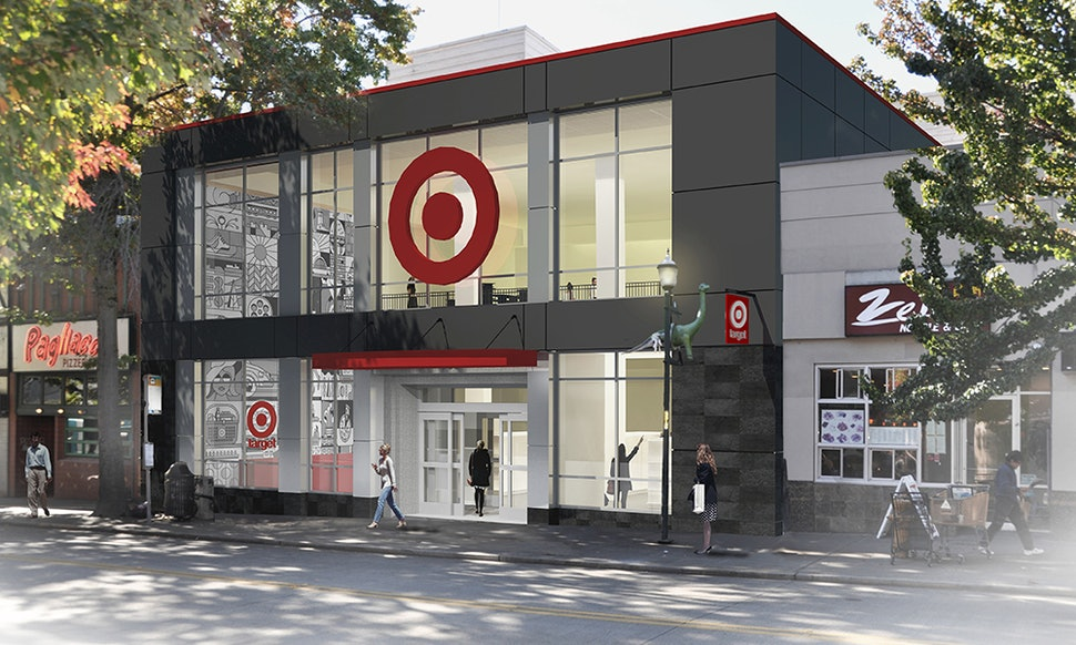 Target is opening small format stores on college campuses for Store building design