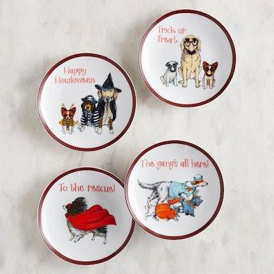 Halloween Dogs Appetizer Plate Set