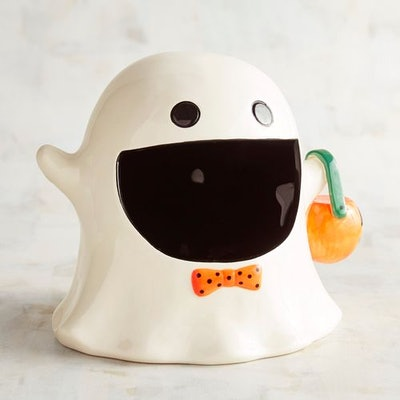 Big Mouth Ghost Halloween Candy Jar