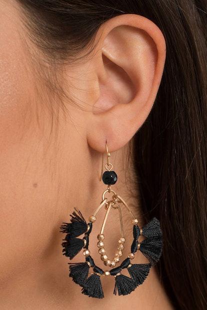 Hassle The Tassel Black Earrings