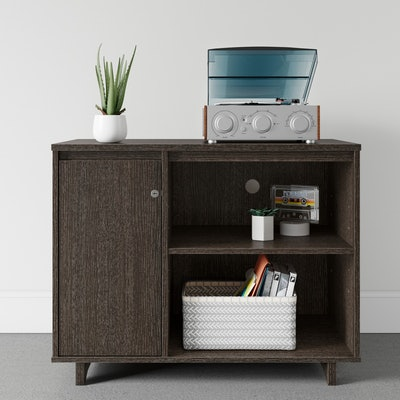 Room Essentials  Locking Media Storage in Espresso Brown