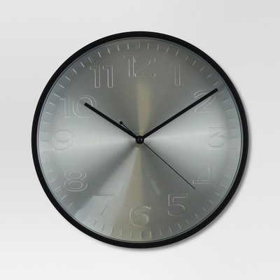 Project 62 Brushed Metal Wall Clock