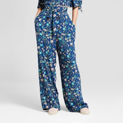 Women's Floral Print Tie Wide Leg Front Pants — Xhilaration™