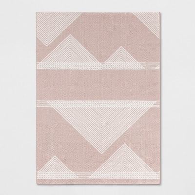 Room Essentials Blush Geometric Rug