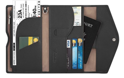 Travelambo RFID-Blocking Passport Holder Wallet