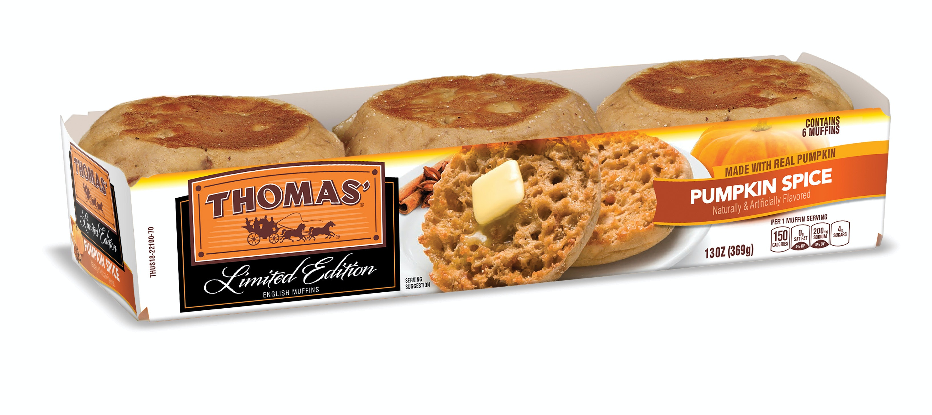 thomas' pumpkin spice english muffins are back for a limited time