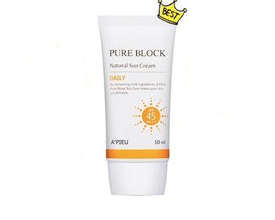 A'Pieu Pure Block Natural Sun Cream SPF 45