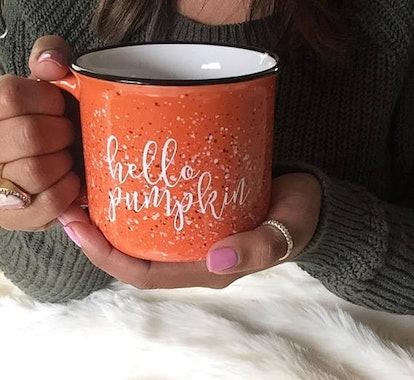 Hello Pumpkin Campfire Mug
