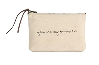Mud Pie Canvas Cosmetic Pouch
