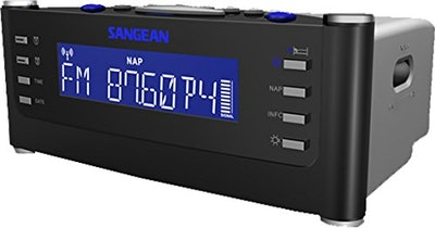 Sangean RCR-22 Atomic Clock With Pll Synthesized FM-RBDS/AM/Tuner Clock Radio With Radio Controlled ...