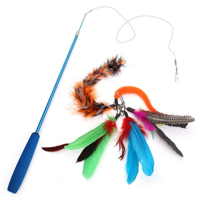 Becory Feather Teaser Cat Toy