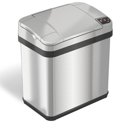 iTouchless Automatic Touchless Sensor Trash Can – includes Odor Filter and Fragrance – 2.5 Gallon
