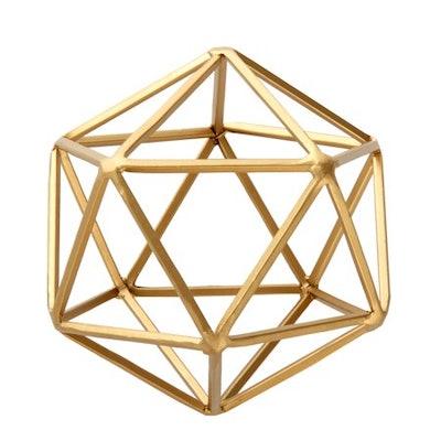 Geometric Tabletop Sculpture, Medium, Gold