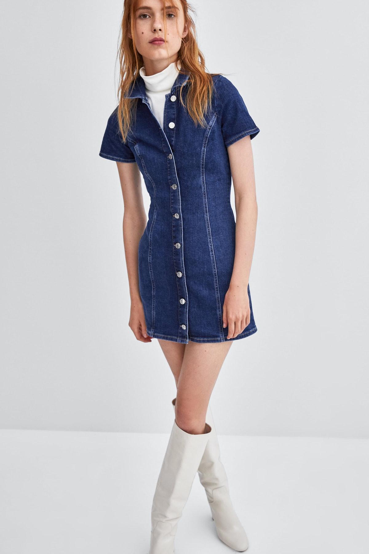 Mini Denim Dress