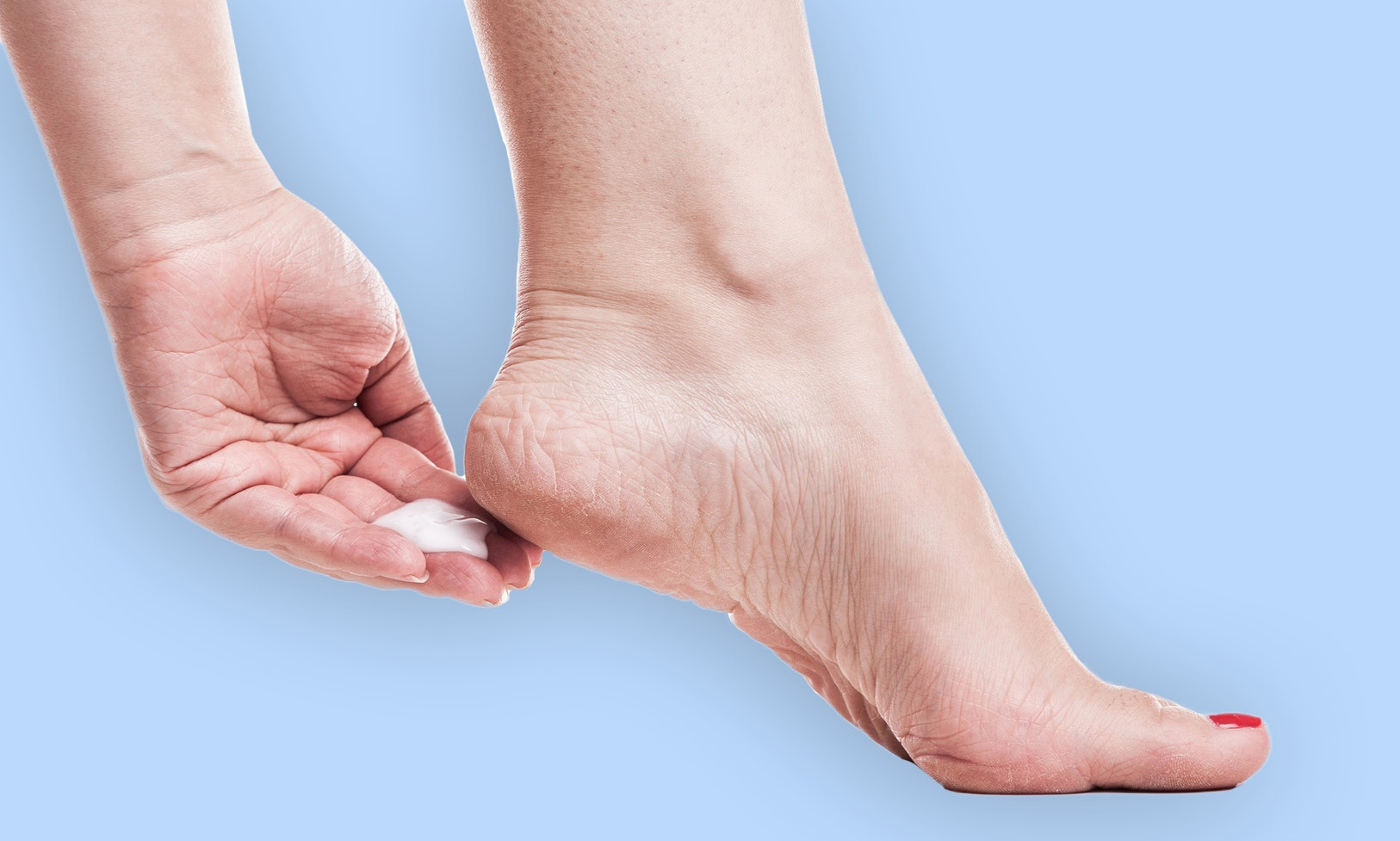 how to apply foot cream