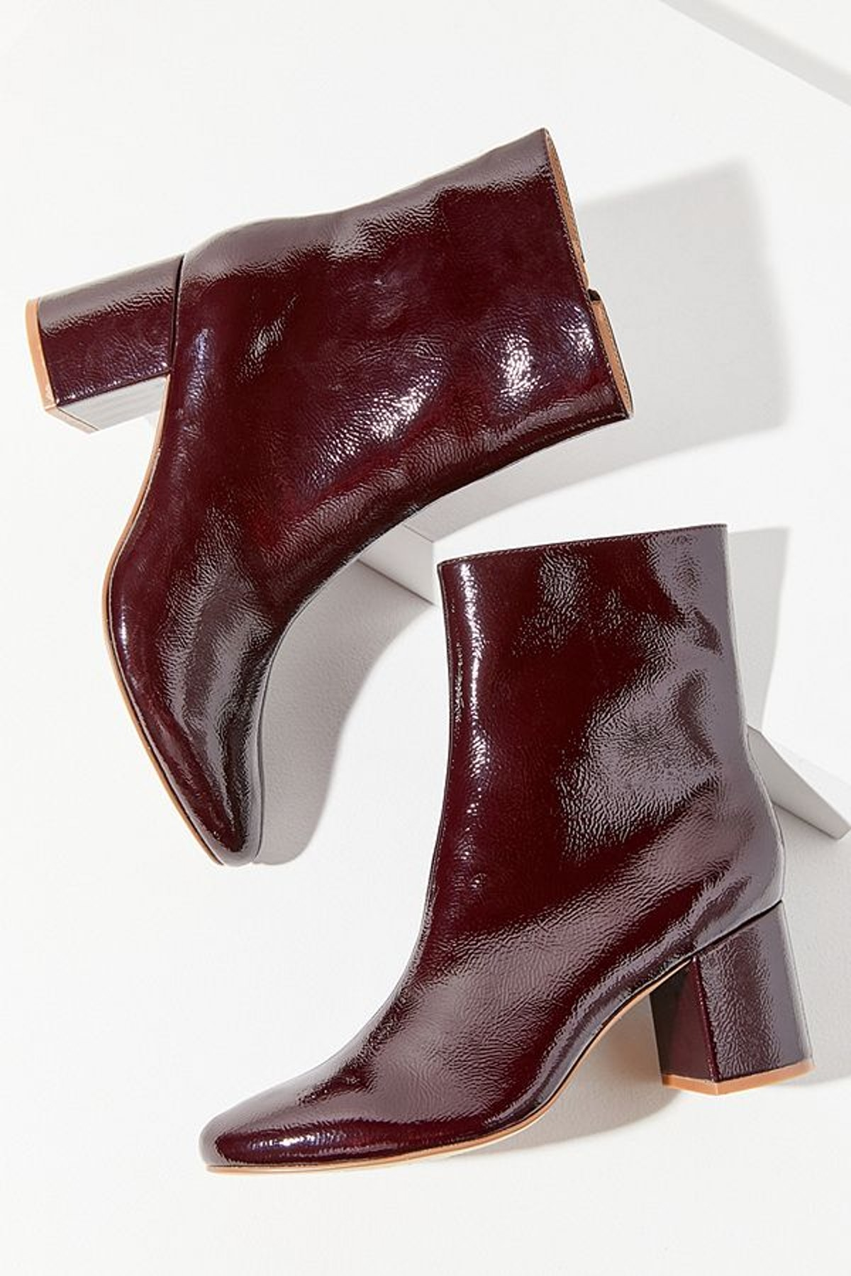 UO Alana Crinkle Patent Boot
