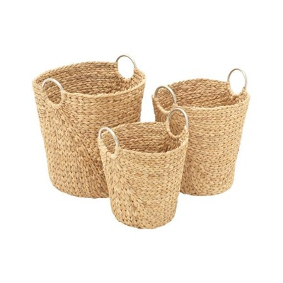 Attractive Set Of Three Seagrass Baskets
