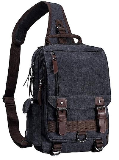 Mygreen Canvas Crossbody Sling Backpack