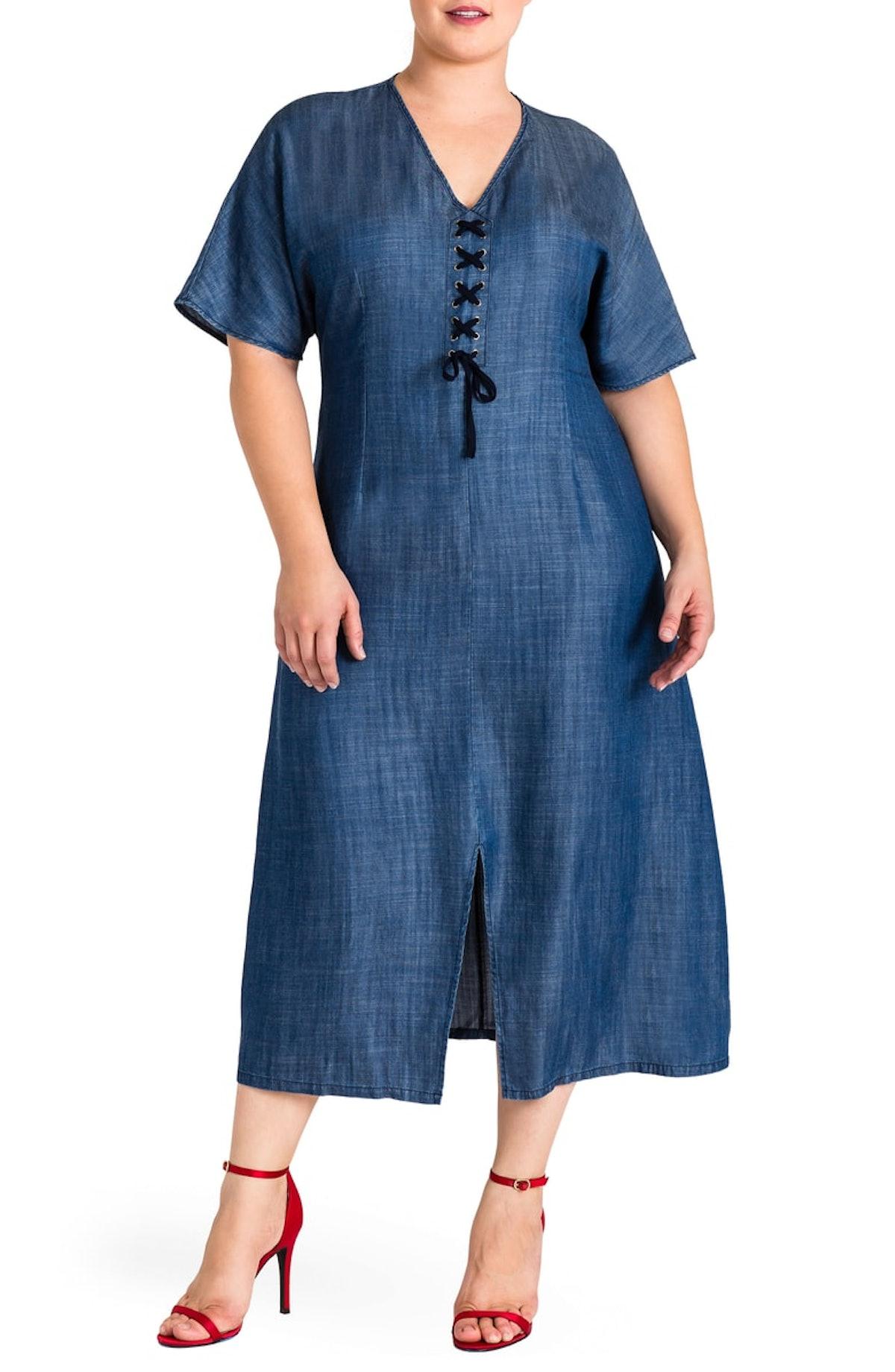 Standard & Practices Meme Tencel Midi Dress