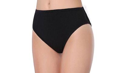 WingsLove Women's Soft Cotton High-Cut Brief Underwear (3-Pack)