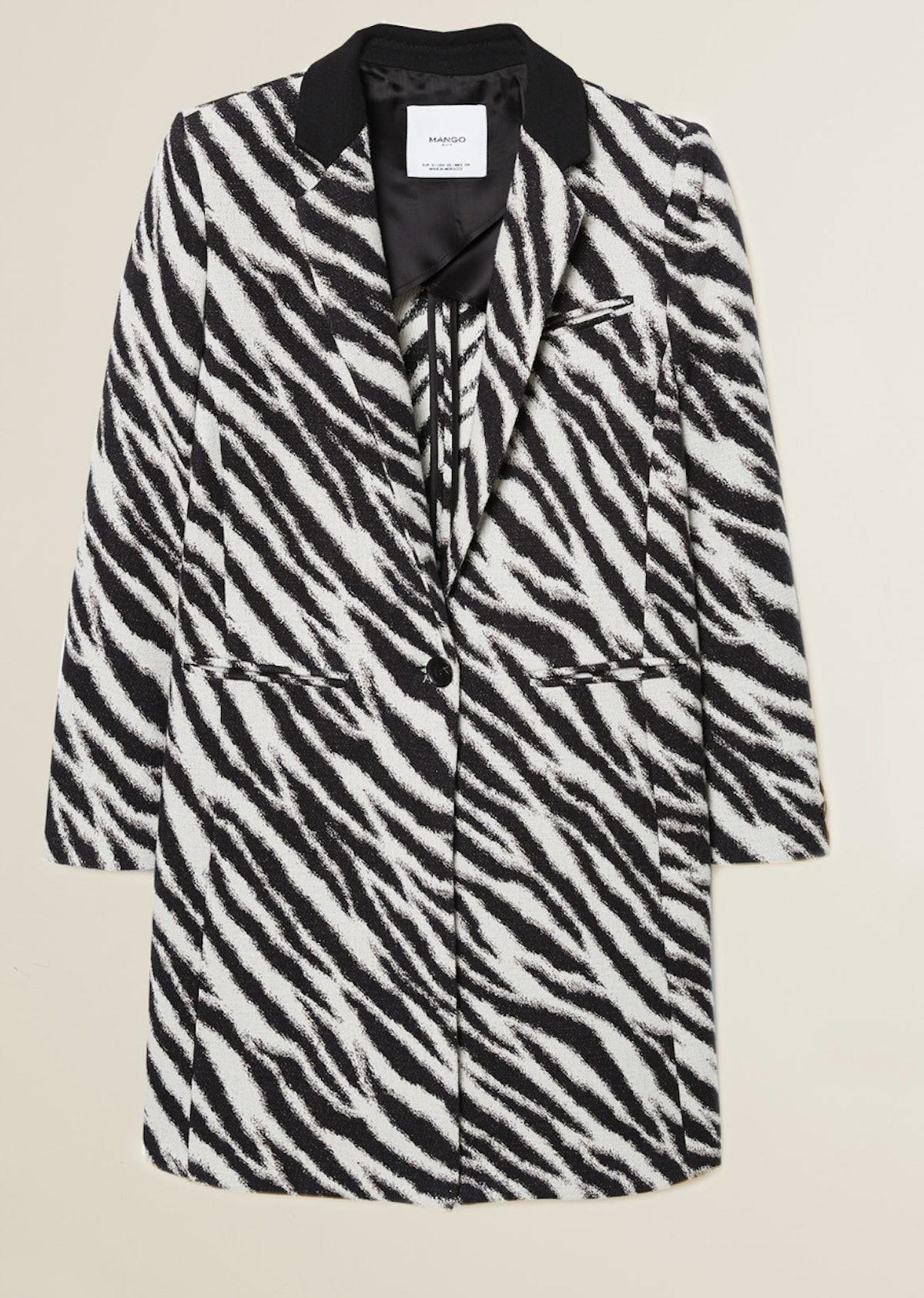 Zebra Printed Coat