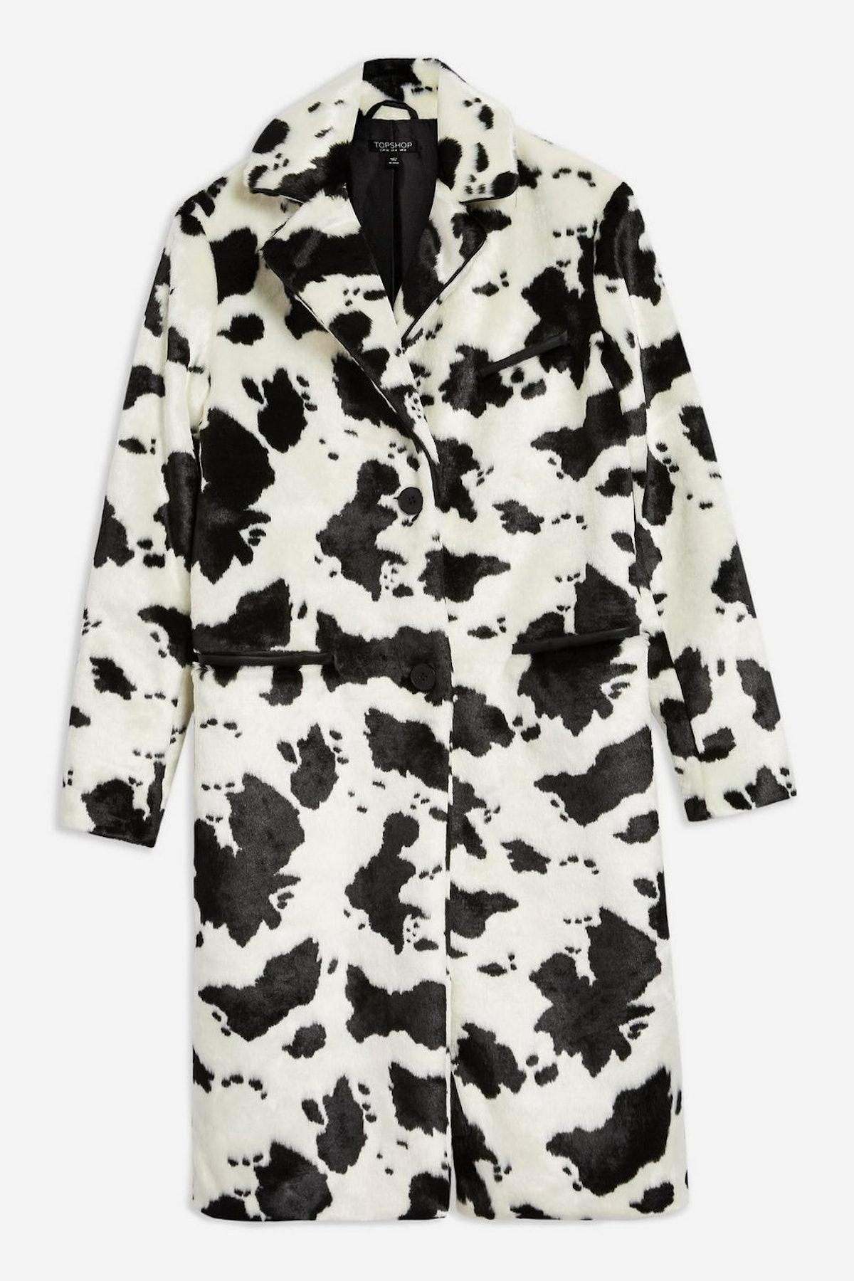 Cow Print Coat