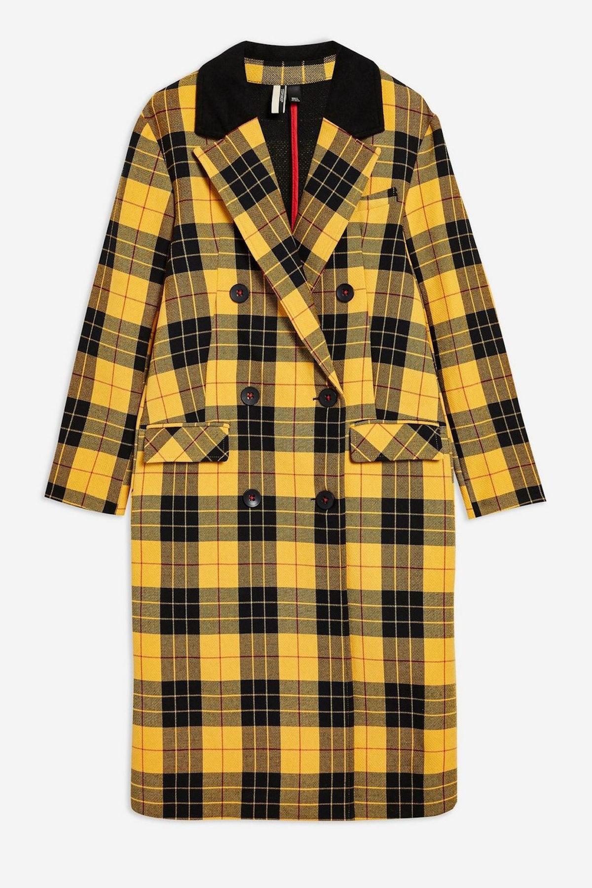 Yellow Tartan Coat